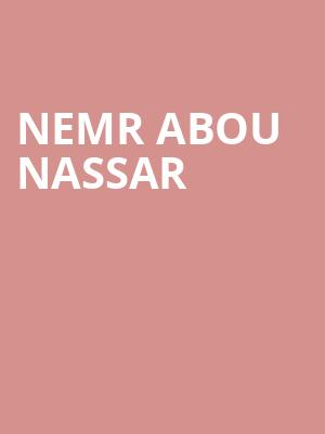 Nemr Abou Nassar at Balboa Theater