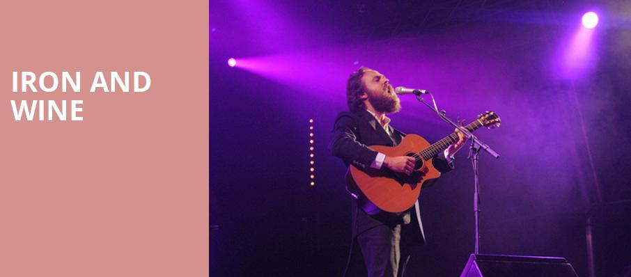 Iron and Wine, Balboa Theater, San Diego