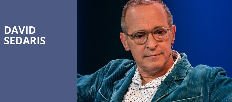 David Sedaris, Balboa Theater, San Diego