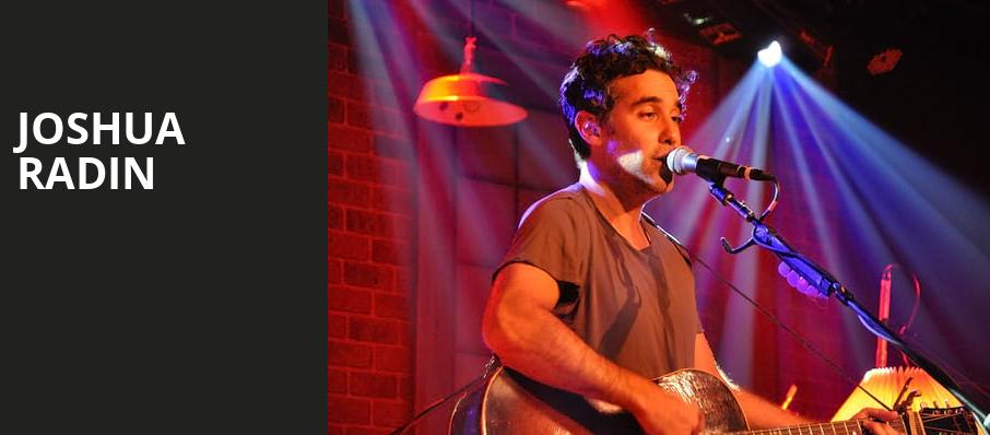 Joshua Radin, Birch North Park Theatre, San Diego